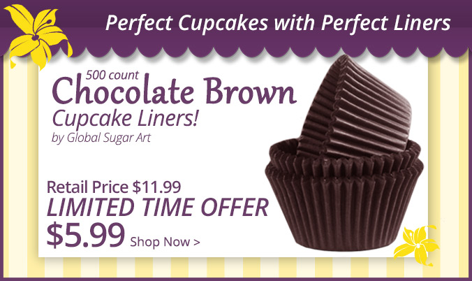 Brown Cuocake Liners Limited Time Offer