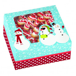 Snowmen Medium Treat or Cookie Box, 3 Count by Wilton