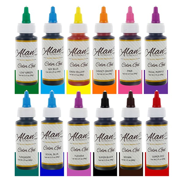 Professional Premium Food Coloring Gel Set, Twelve Colors 2 Ounces ...