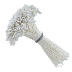 Stamens-Long Pointed Dull White Tip by Global Sugar Art
