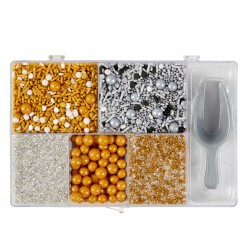 Assorted Treat Metallic Sprinkle Tackle Box, 7.58 Ounces by Wilton
