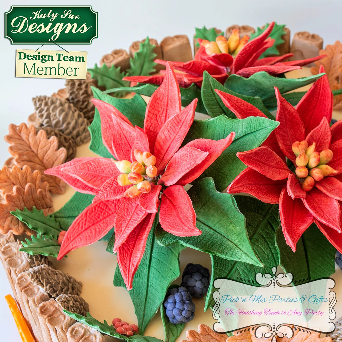 Poinsettia Mold Veiner By Katy Sue Designs Christmas Silicone